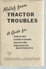 NB-012 Relief from Tractor Troubles, Vintage Guide University of Illinois, 1944