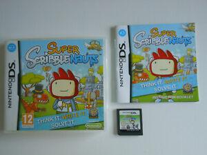 SUPER SCRIBBLENAUTS * NINTENDO GAME DS / DS LITE / DSi 100% GENUINE