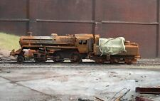 OO gauge scrapyard BR 4MT Class loco, heavily rusted and weathered