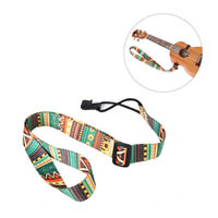 KE_ Adjustable Colorful Printing Ukulele Strap Belt with Hook Guitar Accessory