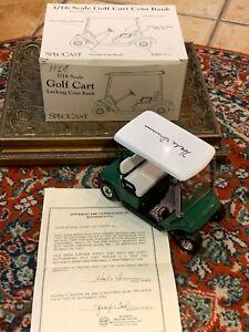 SPECCAST 1/16 DIE CAST GOLF CART COIN BANK HALE IRWIN AUTOGRAPH COA BOX NEW
