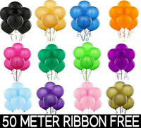 100 Latex PLAIN BALOON BALLONS helium BALLOONS Quality Party Birthday or Wedding