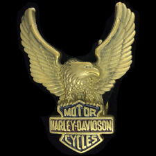 Harley Davidson Motorcycle Wing Eagle Logo Biker Brass 1983 Vintage Belt Buckle