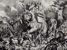 Biblical Art print c 1910 Eleazar's Exploit B Picart Dutch Master d1734 Elephant