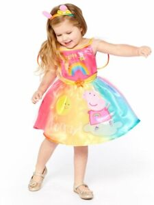 Peppa Pig Rainbow Fairy Licensed Girls Costume Ages 2-6 World Book Day