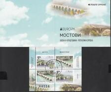 CEPT Bosnia SERBIA Srpske 2018 SET USED 749 livret bridges les ponts