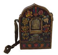 Ghau IN Legno Tibetano Tempio Altare 19cm Jan Guru Rinpoche Tibet 25945 S1D