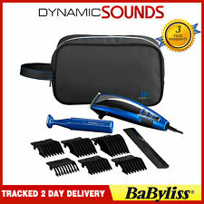 BaByliss 7447BGU Professional Corded Mens Hair Clipper Gift Set Kit Blue