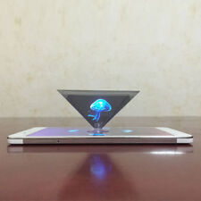 Latest 3D Hologram Pyramid Display Projector Video Universal F/Smart Cell Phones