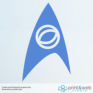 Star Trek Federation Wall Decal Logo Van Laptop Vinyl Sticker Medical
