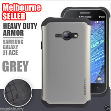 Grey Heavy Duty Iron Man Armor Tough Stand Case For Samsung Galaxy J1 Ace