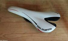 Selle San Marco Aspide Carbon FX road bike carbon saddle, 120gr, white/red