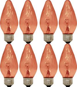 GE Lighting Amber Incandescent Light Bulbs Chandelier F Type Flame Tip 25-Watt