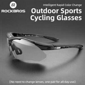 RockBros Cycling Photochromic Glasses Bicycle Sports UV400 MTB Road Bike Outdoor