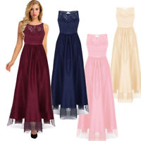 Womens Formal Wedding Bridesmaid Long Evening Party Ball Prom Cocktail Dress
