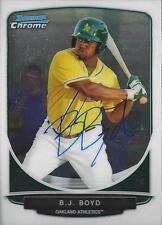 BJ Boyd Oakland Athletics 2013 Bowman Chrome Signed Card