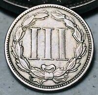 1868 Three Cent Nickel Piece 3C High Grade Civil War Choice Good US Coin CC6514