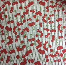 Ditsy Cherry Fruit 100% Cotton Fabric Material BY HALF METRE