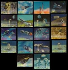 BHUTAN 1971-Space-Moon Landing-19 Different, 3-D Stamps (Plastic Surfaced)