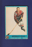 Murray Hall RC 1962-63 TOPPS Hockey (VG) #43 Chicago Blackhawks