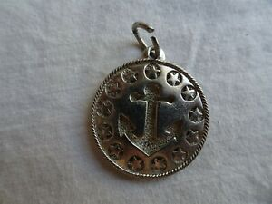 Vintage Anchor & Stars Silver Charm Pendant, Esposito for State Rep. District 26