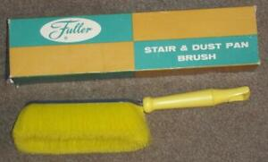 VINTAGE FULLER BRUSH STAIR & DUST PAN BRUSH, ORIGINAL BOX NEW OLD STOCK, 02E74