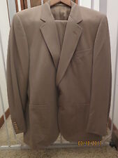 Dunhill Mens Suit 42R Single Breasted Olive Tan Brown Vent SC2