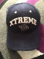 XFL - Los Angeles Xtreme - Vintage Text and Logo on Navy Blue Adjustable Hat