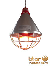 Poultry Heat Lamp With HI-LOW Setting & 175w Red Bulb Included Pig, Puppy Kitten