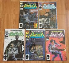 Punisher #1 2 3 4 5 LIMITED SERIES (1986 Marvel) -- COMPLETE SET!  NETFLIX SHOW!