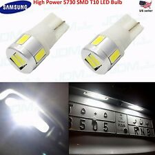 JDM ASTAR 2x White T10 Wedge High Power 5730 SMD LED Light Bulb 194 168 2825 W5W