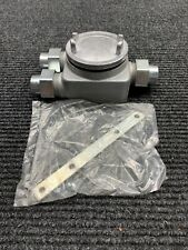 """New EATON CROUSE HINDS GUAG7775  3/4"""" Junction  BOX WITH UNION"""