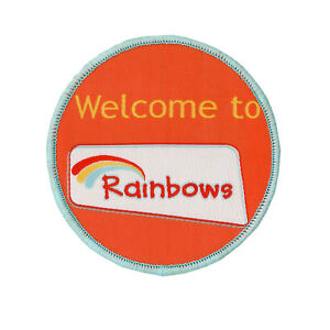WELCOME TO RAINBOWS CLOTH BADGE NEW OFFICIAL SUPPLIER