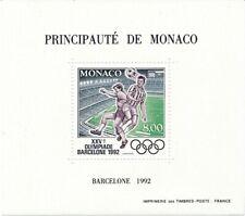 "Monaco 1992; ""Olympiade"" Sonderblock, postfrisch **/MNH, Yvert 18, € 155"