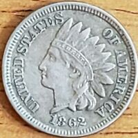 1862 Copper-Nickel Indian Head Cent 1c EF+ **** Check It Out!!! KM# 90 #AA280