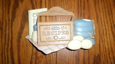 Vintage Burwood Wall Plaque Recipe Holder Hard Plastic Resin Made in U.S.A.