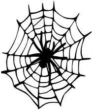 Aufkleber Spinne im Netz 11X15cm !