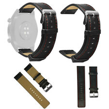 Leather Watchband Straps Replacement for Huawei Watch GT Active 46mm Honor Magic
