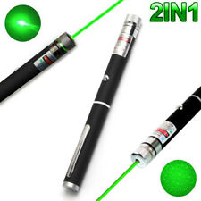 2IN1 High Power 10mW 532nm Green Beam Laser Pointer Lazer Projector Pen D