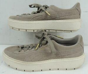 PUMA Platform Trace Women's Shoes size 9.5, Beige (36583006)