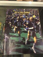 10/2 1982 UNIVERSITY OF PITTSBURGH PITT  VS. WEST VIRGINIA  PROGRAM EX/MT