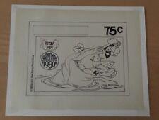 Disney ,Peter Pan, Artwork For Producing Stamp Hand Inked 1980 Christmas