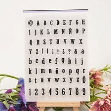 Number Alphabet Silicone Stamp Transparent Rubber Stamps Cling DIY Scrapbook BE