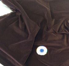 Brown Cotton Dressmaking Velvet  / Velveteen - Light Weight-  Per metre