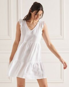 Superdry Tinsley Tiered Dress - Optic, W8010108A - BNWT