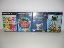 4 x PLAY STATION 2 SPIELE / ANTZ, DISNEY SING IT, ARCADE ACTION ETC. / #56#