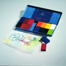 Stockmar wachsmalblöcke en chapa estuche 16 bloques de colores despierta lápices de cera! nuevo!