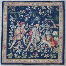 Tapisserie ancienne tapis ancien rug Europeen Français France Aubusson 1900