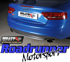 Milltek Audi S5 3.0 B8 Coupe 09-11 Stainless Exhaust Cat Back Res Polished Ovals