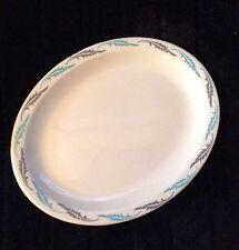 Vintage Homer Laughlin Turquoise & Gray Restaurant Ware Platter